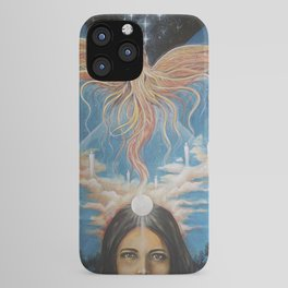 Ascension // Visionary Art Phoenix Spirit Soul Consciousness Spiritual Chakra Awakening Lightworker iPhone Case