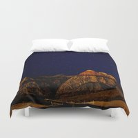 night sky Duvet Covers featuring night sky by haroulita