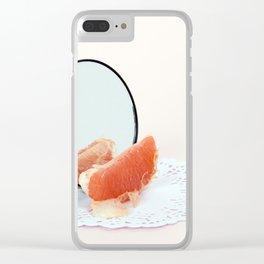 Nude Grapefruit Clear iPhone Case