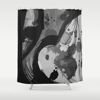 quibe Shower Curtains featuring Ink III by Magdalena Hristova