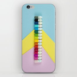 Happy little rainbow pills iPhone Skin