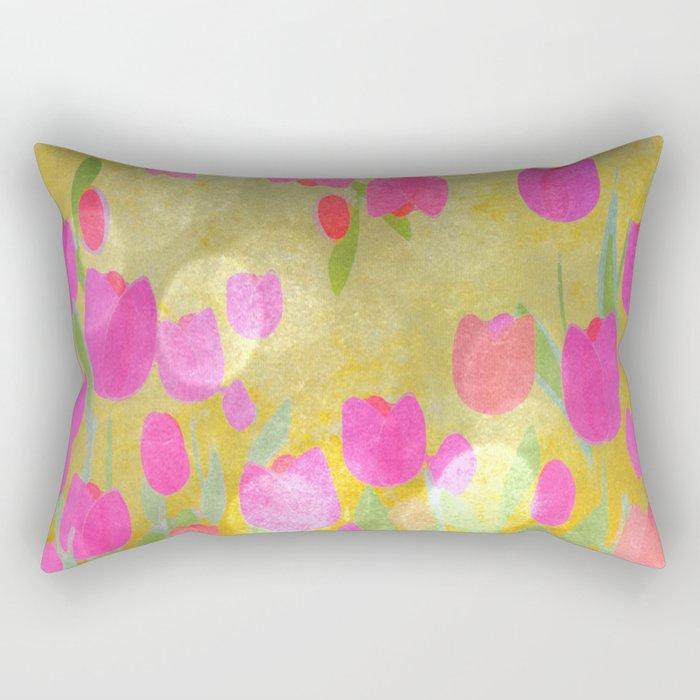 Tulips Love Rectangular Pillow