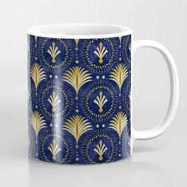 Art Deco Blue And Gold Luxury Coffee Mug