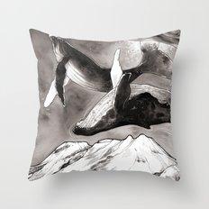 lunar whales Throw Pillow