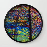 chaos Wall Clocks featuring Chaos by Claire Doherty