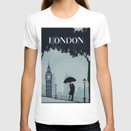 London vintage poster travel T-shirt