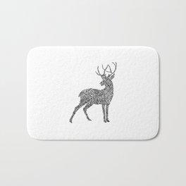 Deer in Mountain Lines Bath Mat