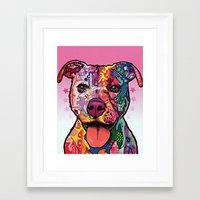 rottweiler Framed Art Prints featuring Rottweiler Dog by trevacristina