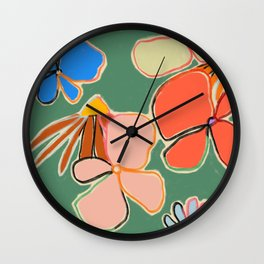 VINTAGE GARDEN GREEN Wall Clock