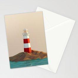 calm lighthouse Stationery Cards