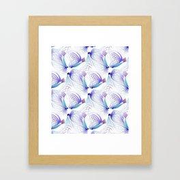 seamless flamepattern -1- Framed Art Print