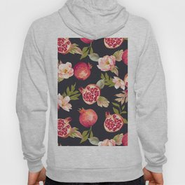 Pomegranate patterns - floral roses fruit nature elegant pattern Hoody