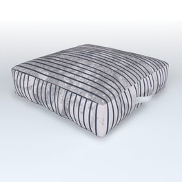 Blue stripes on grunge textured white background. Outdoor Floor Cushion