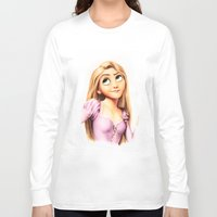 rapunzel Long Sleeve T-shirts featuring Rapunzel by Patricia Teo