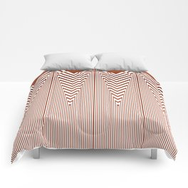 Art Deco Geometric Arrowhead Dusty Peach Design Comforters