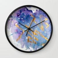 battlestar galactica Wall Clocks featuring Galactica by Maïlys Jans