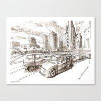 tokyo Canvas Prints featuring Tokyo by Jonas Ericson