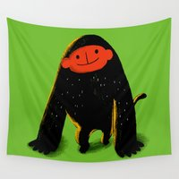 monkey Wall Tapestries featuring Monkey by taichi_k