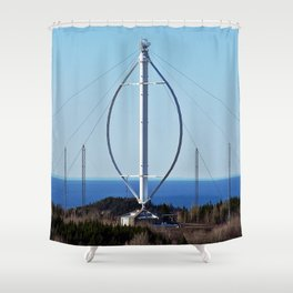 Giant Windmill Shower Curtain