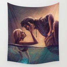 Captain Jones & The Mermaid Wall Tapestry
