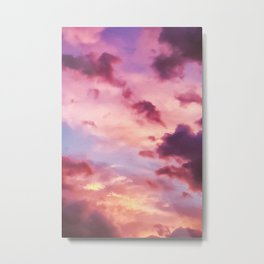Pink and Purple Sunset (Color) Metal Print