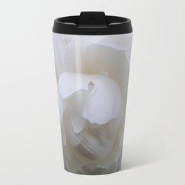 Pure White Peony Travel Mug