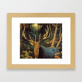Bull Elk in Autumn Framed Art Print