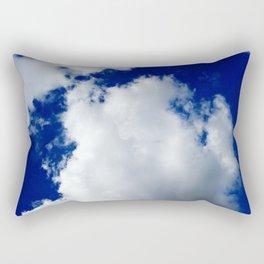 Clear Blue Sky Clouds Rectangular Pillow