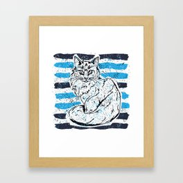 Cat stripes Framed Art Print
