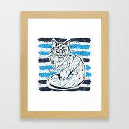 Cat stripes Framed Art Print