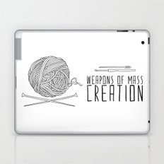 Weapons Of Mass Creation - Knitting Laptop & iPad Skin