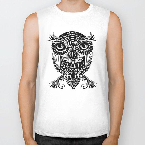 Baby Egyptian Owl Biker Tank