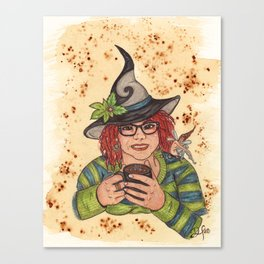 Coffee Witch Canvas Print