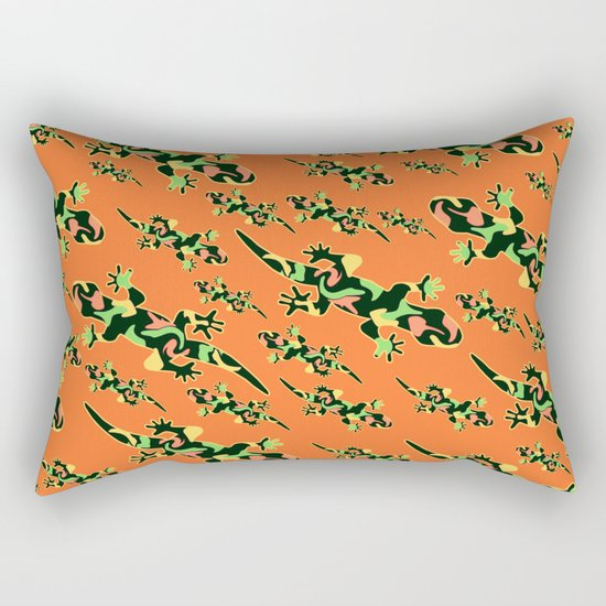 Lizards- tribal Rectangular Pillow