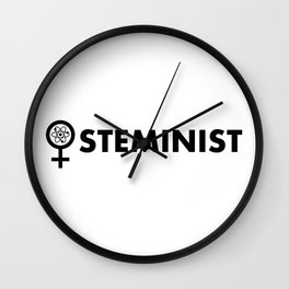 Steminist with symbol Wall Clock