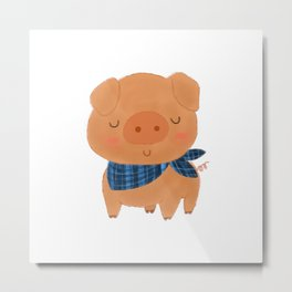 Fancy Pig Metal Print
