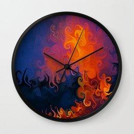 Lava Meets Ocean Wall Clock