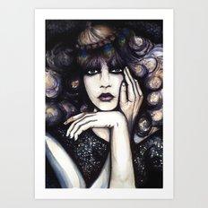Blonde Curls // Fashion Illustration Art Print