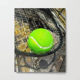 Tennis print work vs 2 Metal Print