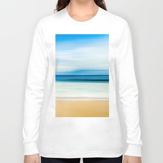 Blurred Beach Long Sleeve T-shirt