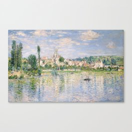 Vetheuil in Summer 1880 by Claude Monet Canvas Print