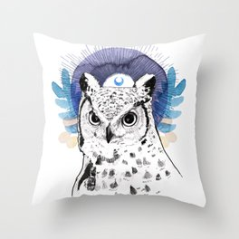 The Owl (Spirit Animal) Throw Pillow
