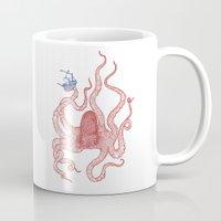 kraken Mugs featuring Kraken by Andrew Henry