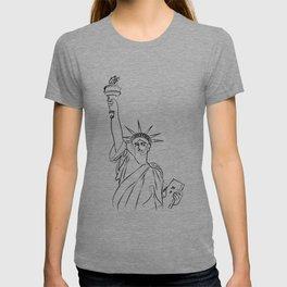 America Statue of Liberty USA T-shirt