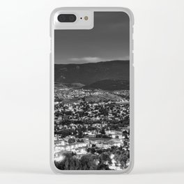 Okanagan Cityscape BW Clear iPhone Case