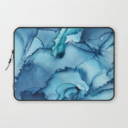 The Blue Abyss - Alcohol Ink Painting Laptop Sleeve