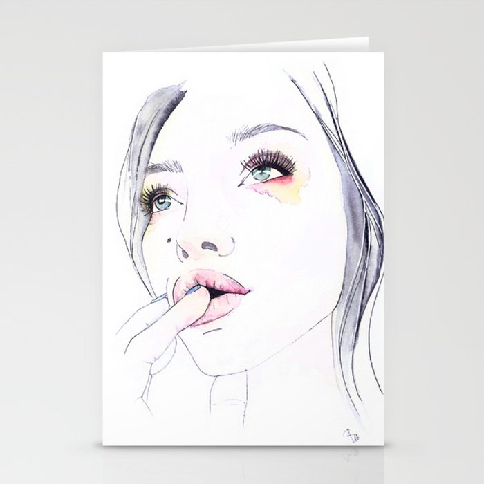 Ivy Levan | Watercolor Beauty Stationery Cards