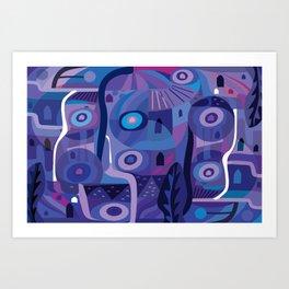 Blue Pozole Art Print