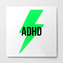 ADHD with thunder Metal Print