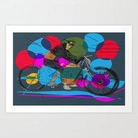 Motorcycle Dreams Art Print